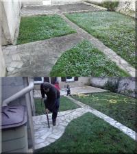 Décapage terrasse extérieure